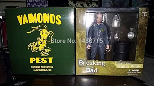 Walter White Bryan Cranston Grey Hazmat Suit US TV Series AMC Breaking Bad Mezco 6