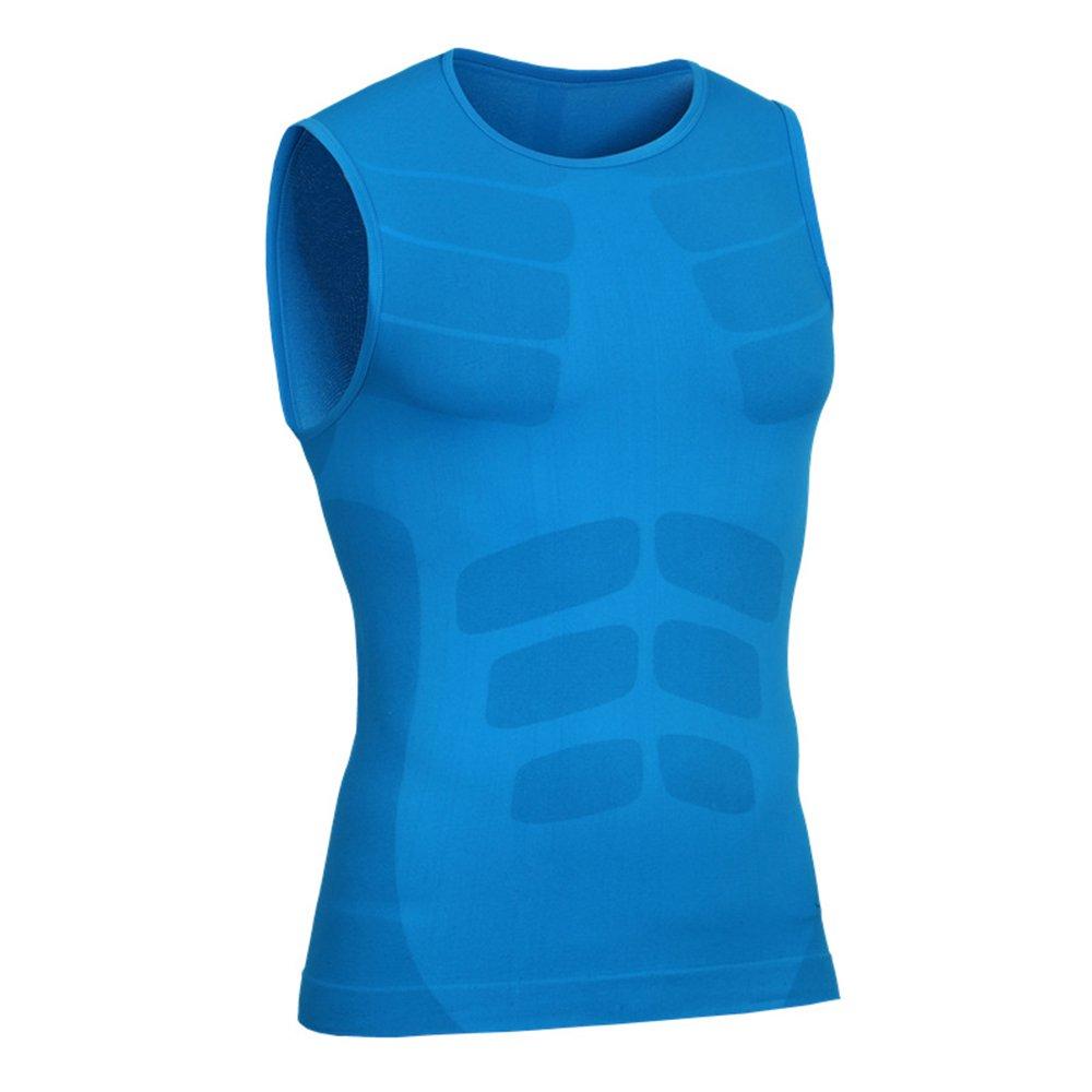Bwiv Herren Kompressionsshirt Armellos Atmungsaktive Schweiß Absorbierende Sportshirt Jungen Fitness Gym Shirt Figurformer Tank Top