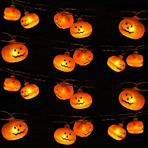 Great Set of Halloween and Thanksgiving Pumpkin Lights!
