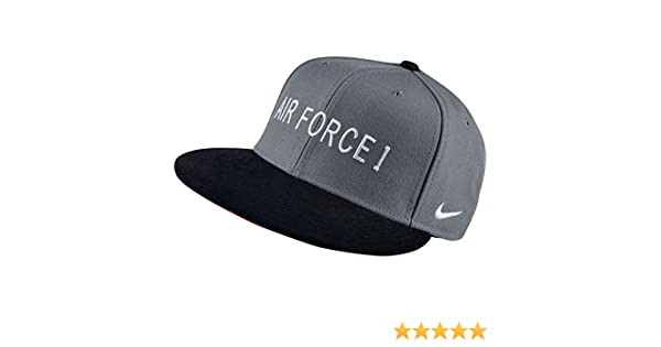 d5acee3a85ae10 ... amazon amazon nike mens s air force 1 af1 hunt true snapback hat cool  grey white