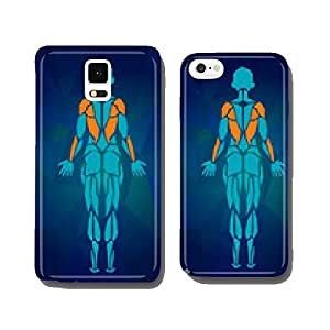 Polygonal anatomy of female muscular system. Women muscle vector cell phone cover case iPhone5