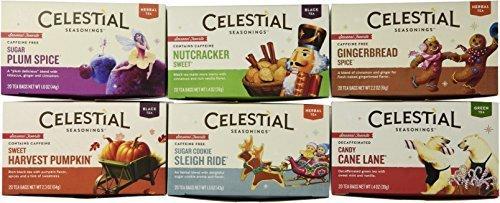 Nutcracker Sweet Black Tea - Celestial Seasonings Holiday Tea Variety 6-pack