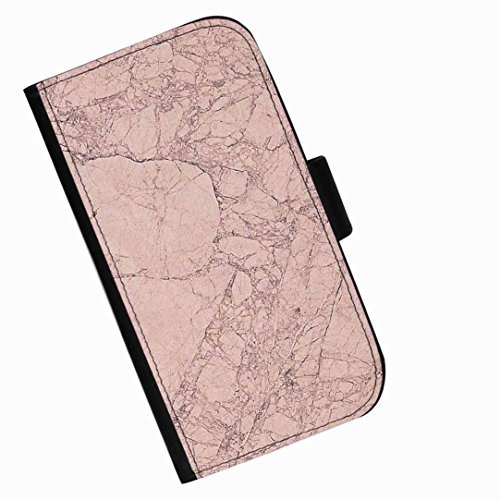 Hairyworm - Pink cracked stone Apple Iphone 3G, 3Gs leather side flip wallet cell phone case, cover with card slots, money slot and magnetic clasp to - 3gs Cracked Iphone