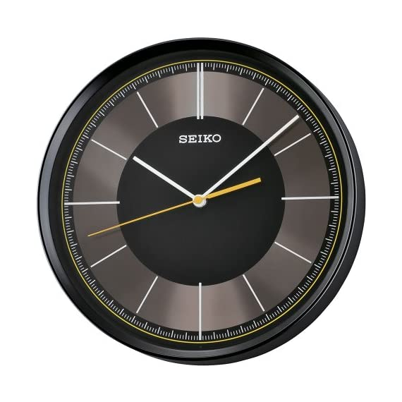 Seiko QXA612KLH Wall Japanese Quartz Wall Clock - Quiet sweep second hand Black case 12-Inches x 12-Inches - wall-clocks, living-room-decor, living-room - 51IYoAXg3tL. SS570  -