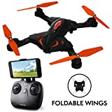 Photo : Force1 Foldable Drone with Camera Live Video with 720p HD Drone Camera Altitude Hold and 1 Key Control Quadcopter