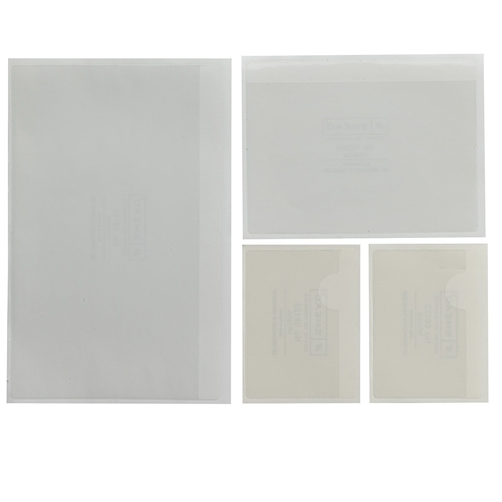 Smead Self-Adhesive Poly Pocket, Variety Pack, Clear, 24 Per Pack (68167)