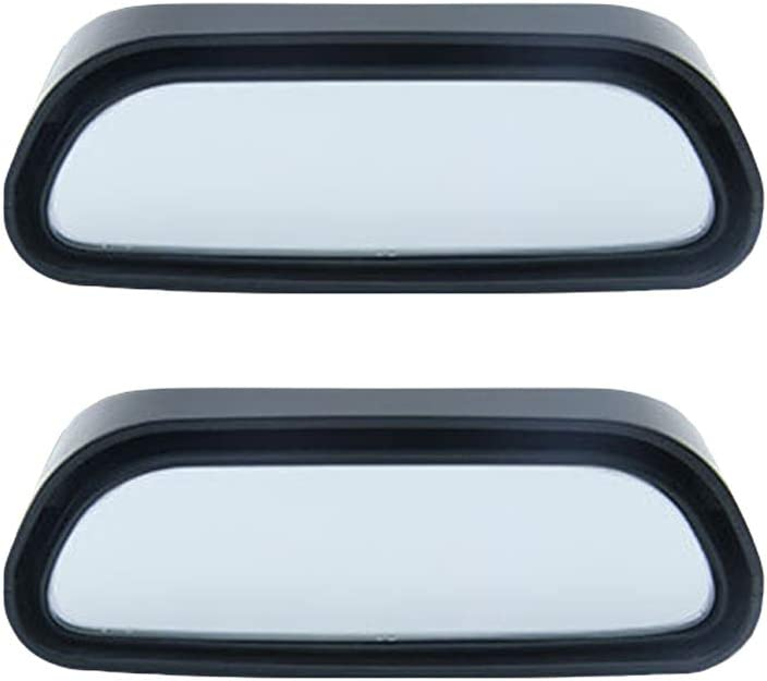 Wakauto 2PCS Universal Car Blind Spot Wide Angle Rear Side View Mirror Vehicle