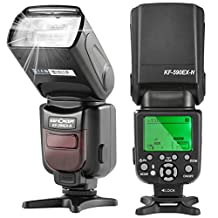 K&F Concept I-TTL Speedlite Flash with LCD Display Auto-Focus Function for Nikon D7100 D7000 D5200 D5100 D5000 D3000 D3100 D300 D300S D700 D600 D90 D80 D70 D70S D60 D50 DSLR SLR Camera