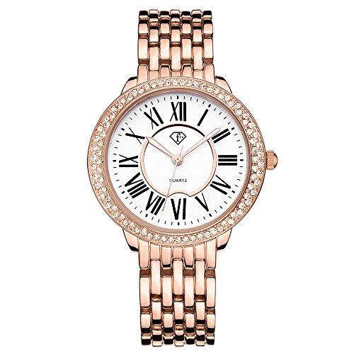 Women Bracelet Watch Luxury Crystal Wrist Watches Ladies Classic Dial Quartz Wristwatch (4005 (Link New Ladies Wrist Watch)