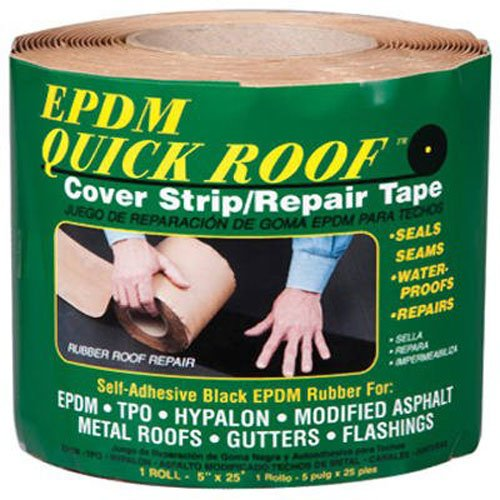 EPDM BRQR525 Quick Roof Cover Strip Roof Repair Tape 5-Inch x (Epdm Cover)
