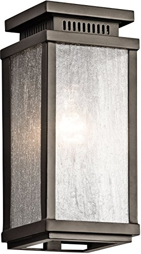 Kichler Lighting 49384OZ Manningham 1LT 11IN Exterior Wall Lantern, Olde Bronze Finish with Clear Seedy Glass - 11 Wall Lantern