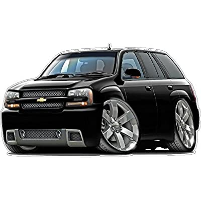 2010 Trailblazer SS SUV Truck Wall Decal Vintage 3D Cartoon Car Movable Stickers Vinyl Wall Stickers for Kids Room: Baby