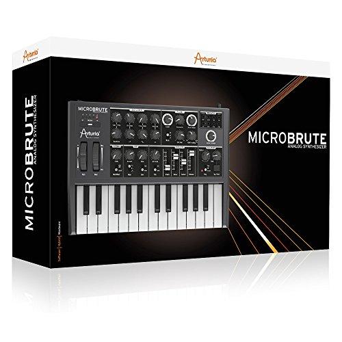 Arturia MICROBRUTE Analog Synthesizer w/ Pig Hog PH10 Instrument Cable – Bundle