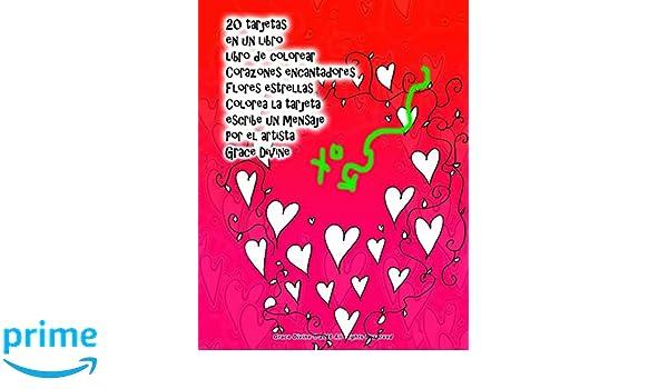 20 tarjetas en un libro libro de colorear Corazones encantadores ...