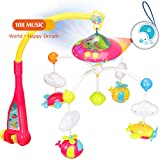 EP EXERCISE N PLAY Dreamful Bed Ring, Nursery Bed Bell with Lights and Music, Rotate Bracket Baby Mobiles Bed Bell Toy for Baby Sleep