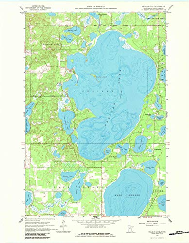 YellowMaps Pelican Lake MN topo map, 1:24000 Scale, 7.5 X 7.5 Minute, Historical, 1959, Updated 1984, 27.2 x 21.2 in - Paper