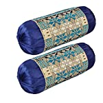 HSR Collection Chenille 180 TC Bolster Cover (Multicolour_Standard, 81 cm x 40 cm or 32 inches x 16 inches)