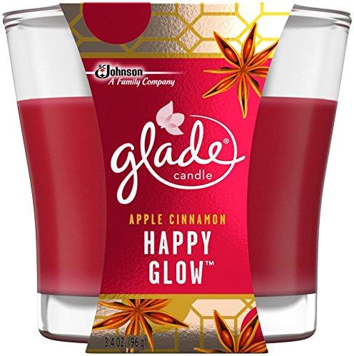 Glade Jar Candle Air Freshener, Happy Glow, 3.4 Ounce