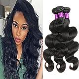 FeiBin Brazilian Body Wave Hair 3 Bundles 8A Grade Virgin Unprocessed 100% Human