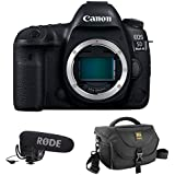 Canon EOS 5D Mark IV DSLR Camera (Body Only) with Rode VideoMic Pro Microphone and Journey 34 DSLR Shoulder Bag