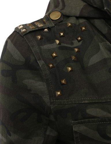 J.TOMSON Womens Trendy Military Cotton Drawstring Anorak Jacket CAMO ... c1e329955