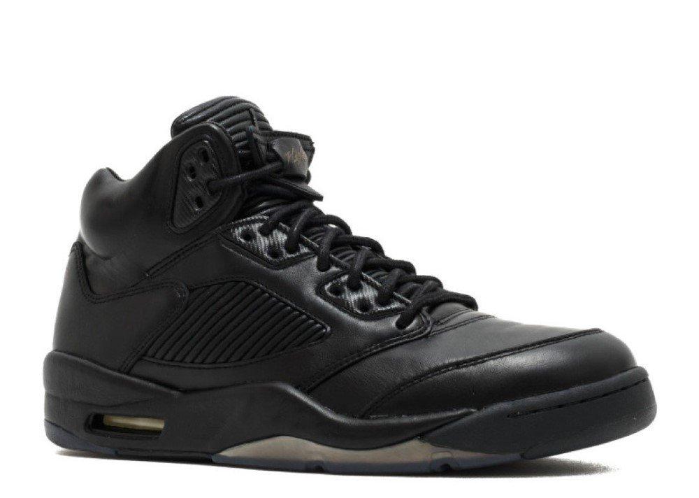 Nike Air Jordan V 5 PRM Premium Triple Black Black Jacket Pinnacle LUX 881432-010 US Size 14 by NIKE