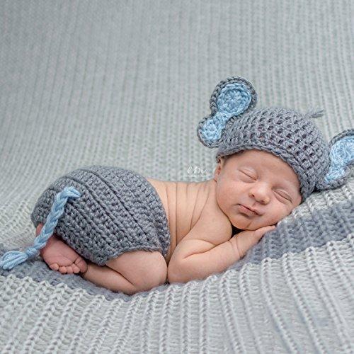 Handmade Elephant Nursery For Boy Newborn Photography Outfit ()