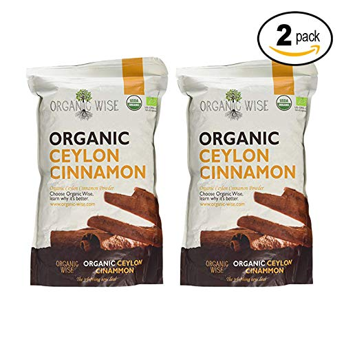 Organic Wise Ceylon Cinnamon Ground Powder, 1 lb-From a USDA Certified Organic Farm and Packed In The USA- 2 pack Bundle by Organic Wise (Image #1)