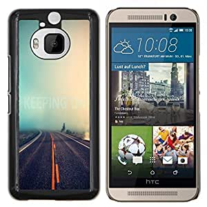 Be-Star Único Patrón Plástico Duro Fundas Cover Cubre Hard Case Cover Para HTC One M9+ / M9 Plus (Not M9) ( Infinità Strada Natura Nebbia Foresta Viaggi Auto )