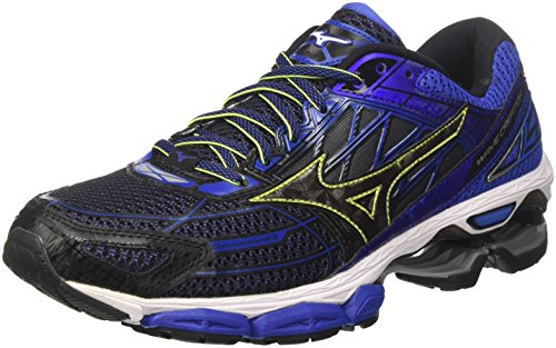 Blackblackdazzlingblue Chaussures Wave Homme 19 Running de Multicolore Mizuno Creation Bleu q6w4z