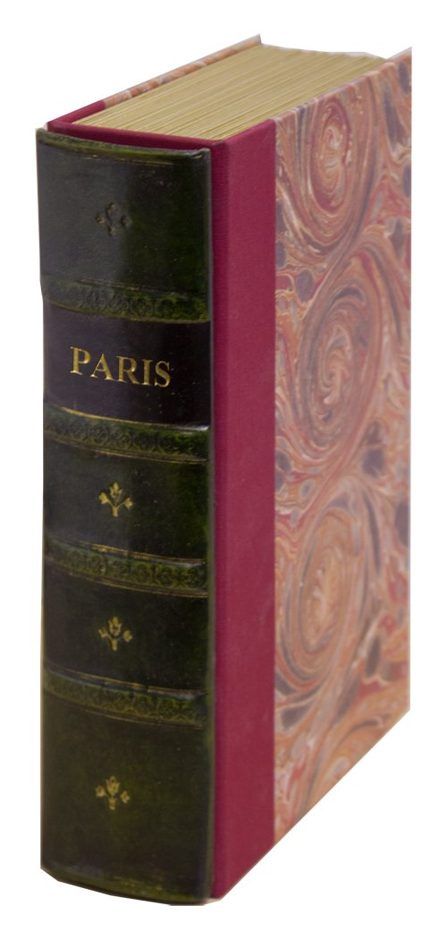 Original Book Works US127G Reproduction Antiqued Faux Leather Hidden Book Safe, ''PARIS'', Green