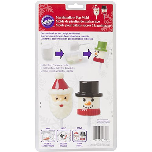 Wilton 2115-1798 Marshmallow Candy Mold, Snowman and