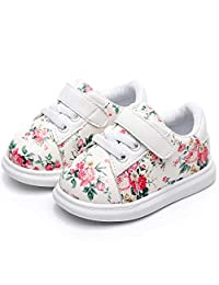 HONGTEYA Baby Boys Girls Toddler Sneaker Anti-Slip Soft Soled First Walkers Baby Shoes Moccasins for Newborn Infant.