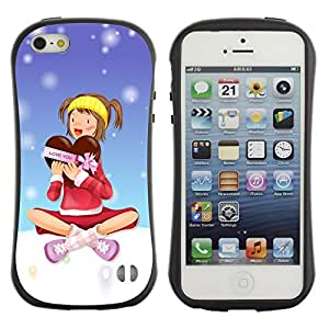 Paccase / Suave TPU GEL Caso Carcasa de Protección Funda para - Christmas Girl - Apple Iphone 5 / 5S