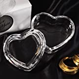 Crystal Heart Shaped Shimmering Jewel Box - 1 Piece