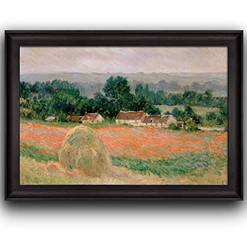 Haystack at Giverny by Claude Monet Framed Art