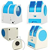 Dishan Mini Portable Dual Bladeless Small Water Oprate Fan For Car/Home/Office