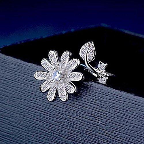 UltraSunday Fashion Solid 925 Sterling Silver Natural Zircon Bowknot Ear Stud Earrings