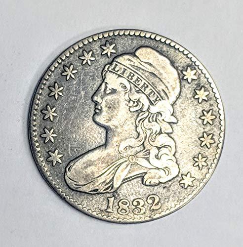 (1832 Capped Bust Half Dollar 50c Fine O-117 R.2)