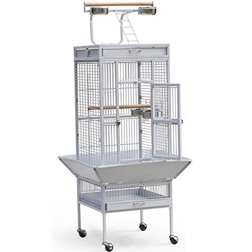 Cockatiel Halloween Costumes (Large White Parrot Cage Bird Cockatiel Parakeet Finch Playtop Gym Perch Stand With Ebook)