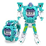 2 in 1 Transform Toy Robot Watch, FOONEE Kids Digital Electronic Watch Deformation