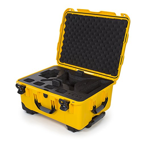 Nanuk DJI Drone Waterproof Hard Case with Wheels and Custom Foam Insert for DJI Phantom 4/ Phantom 4 Pro (Pro+) / Advanced (Advanced+) & Phantom 3 - 950-DJI44 (Drone Wheels)