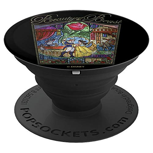 Disney Beauty And The Beast Stained Glass Poster - PopSockets Grip and Stand for Phones and Tablets
