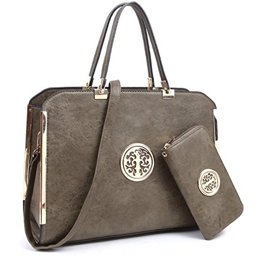 - Women Large Designer Handbags Purses Vegan Leather Briefcases Top Handle Satchel Work Bags for 13