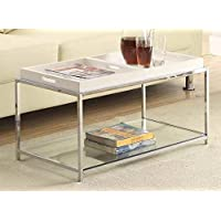 Coffee Table with White Trays