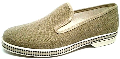 DAVEMA , Chaussons pour homme beige Corde