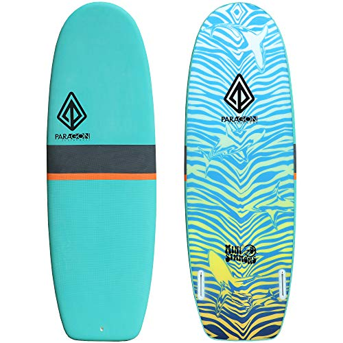 Paragon Surfboards Performance Soft-Top Surfboard   Handshaped, Fun & Easy to Ride   5'6″   7'6″   9'0″