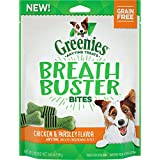 Greenies Breath Buster Bites Dog Treats, Chicken & Parsley, 5.5 Ounce, 6 Pack