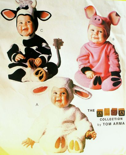 (McCall's 8331 Toddler Costume Sewing Pattern, Size 1/2, 1, 2 Pig, Lamb and Cow by Tom)