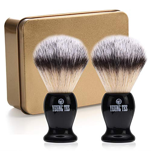 (YEUNGTES Men's Shaving Brush, Handmade Shave Brush)